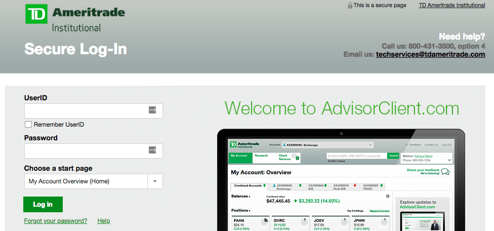 TD Ameritrade separately managed accounts